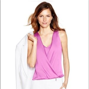 NEW XS WHBM Sleeveless Layered Surpluce Shell Top